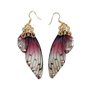 Fairy Wing Earrings Hippie Boho Goth Kawaii